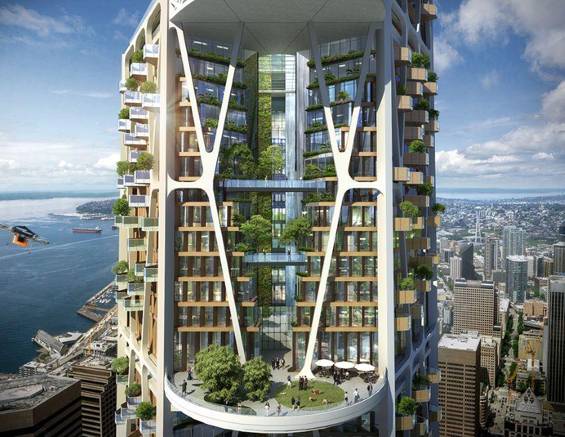Какими будут небоскребы через 10 лет после пандемии COVID-19. Концепт архитектурного бюро 3MIX