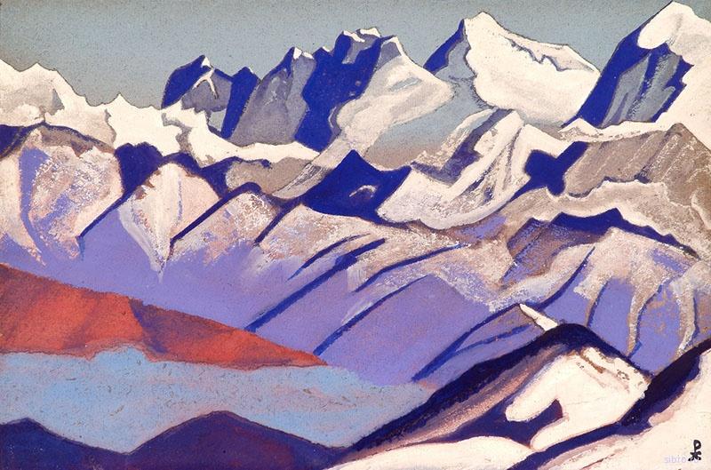 «Гималаи. Эверест». Картина Николая Рериха 1933 года.