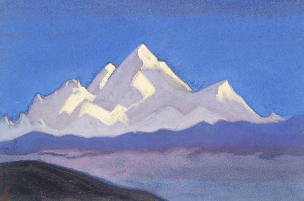 «Эверест (Снеговой гигант)». Картина Николая Рериха 1944 года.