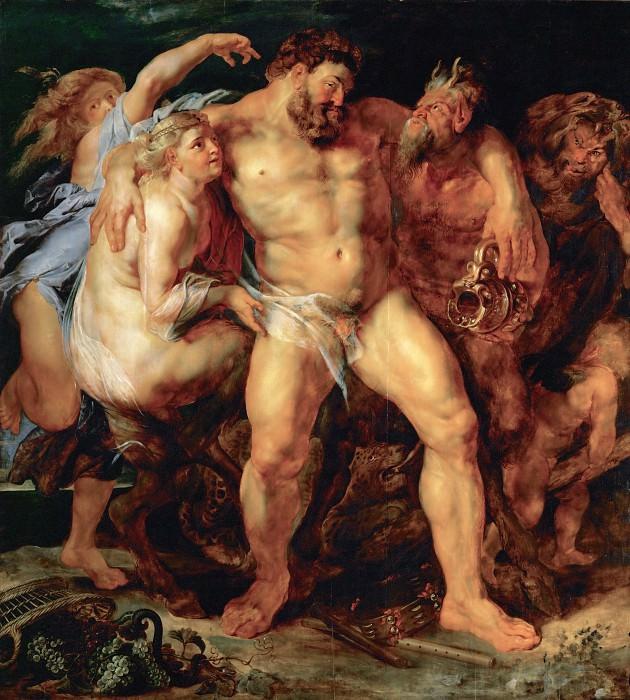 Питер Пауль Рубенс — Пьяный Геркулес с нимфами и сатирами