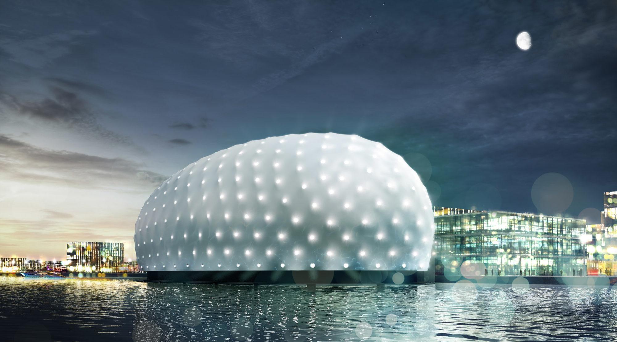 Нидерландские архитекторы хотят построить полуподводный музей вокруг затонувшего корабля