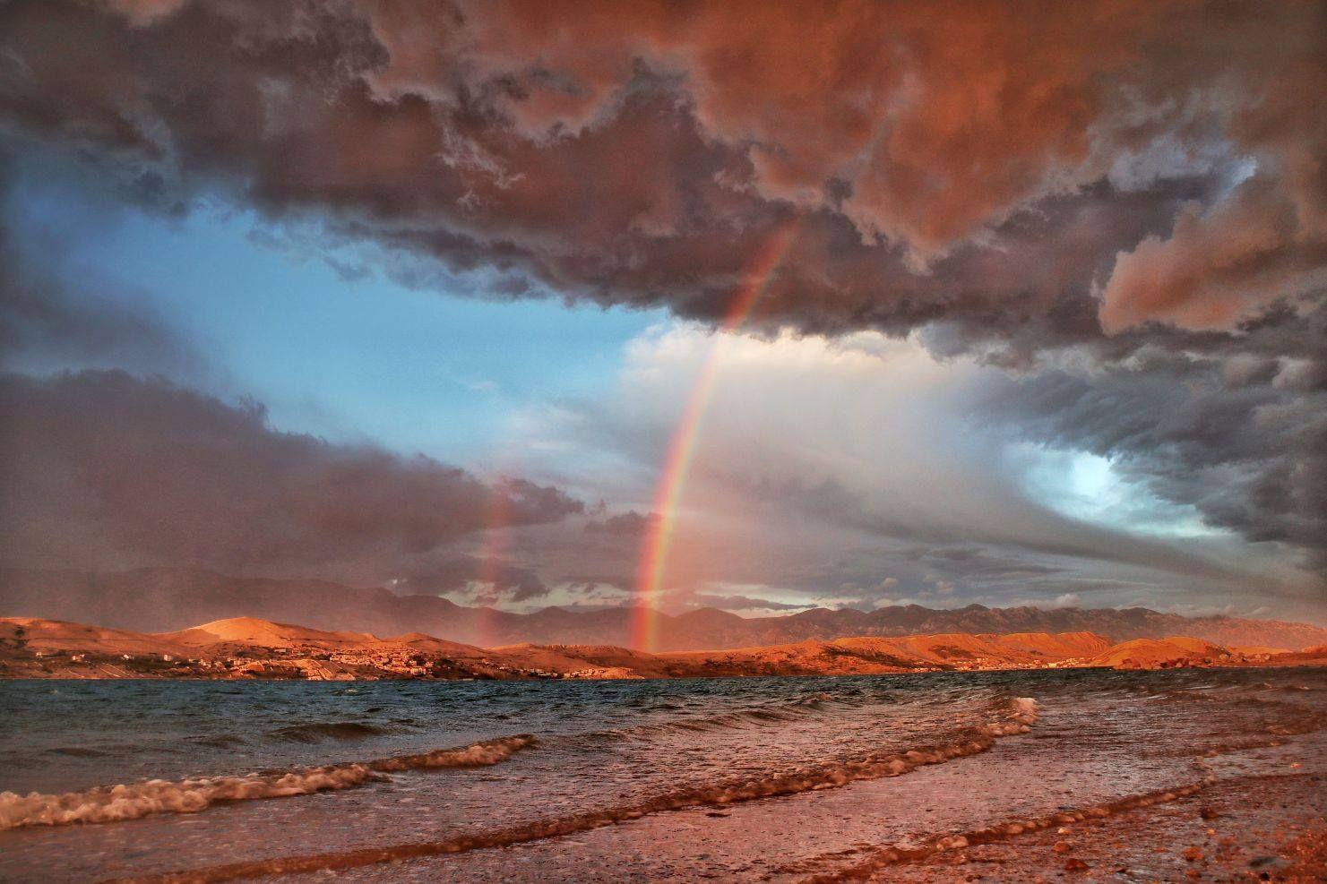 Фото — «Радуга после шторма». Остров Паг, Хорватия. Автор — Zrinka Balabanic.