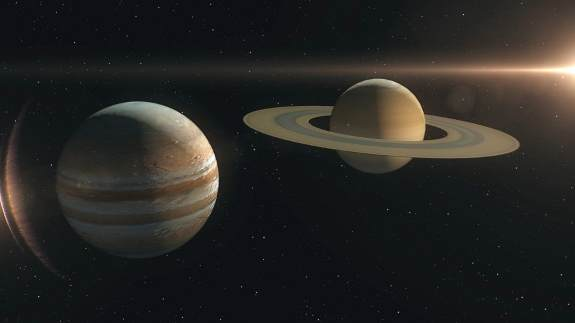 Только фото сближения Юпитера и Сатурна. Последний раз такое видел Галилей