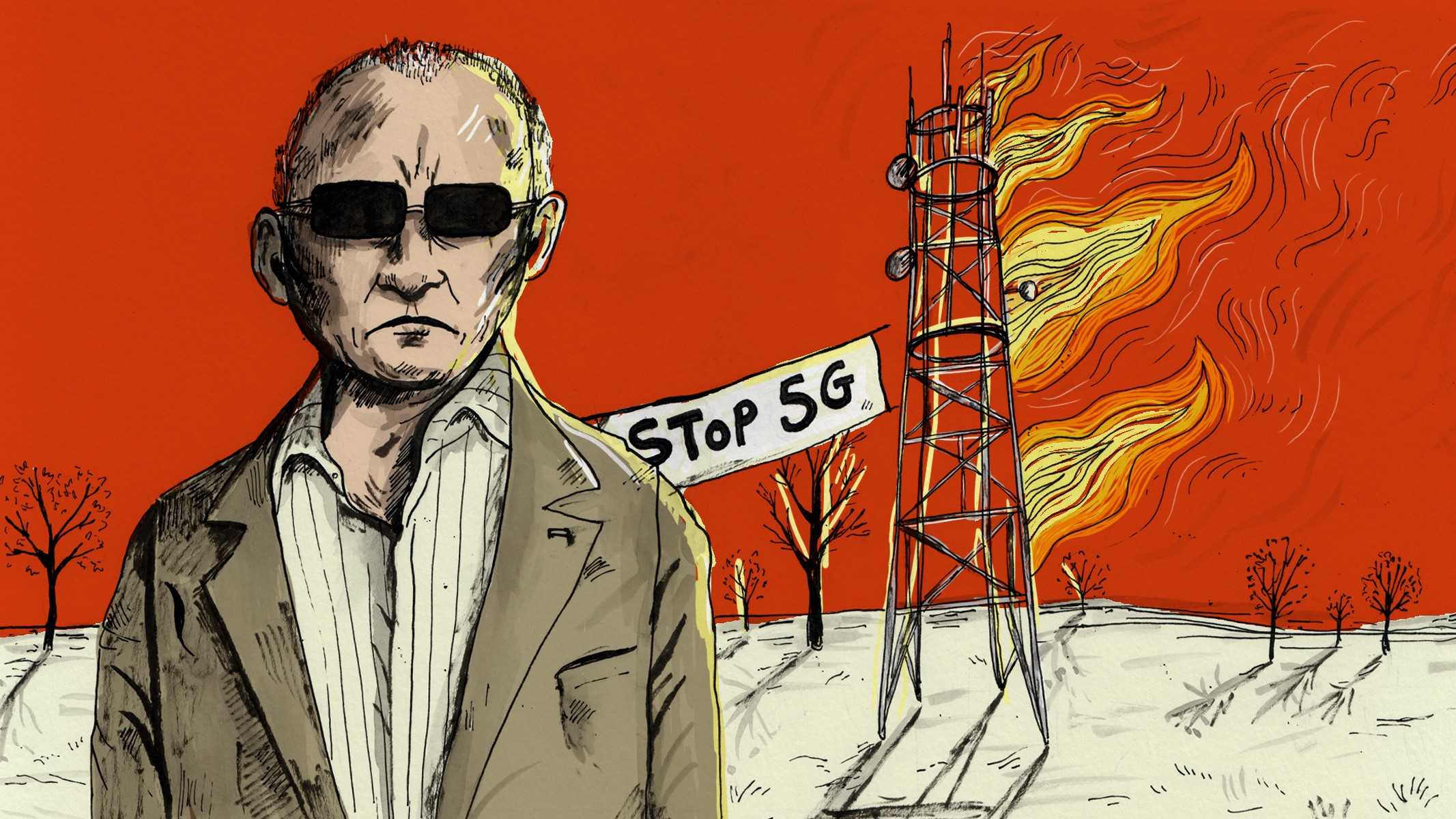 Во Франции борцы с 5G подожгли вышку. Но оказалось, что она не использовалась для 5G связи