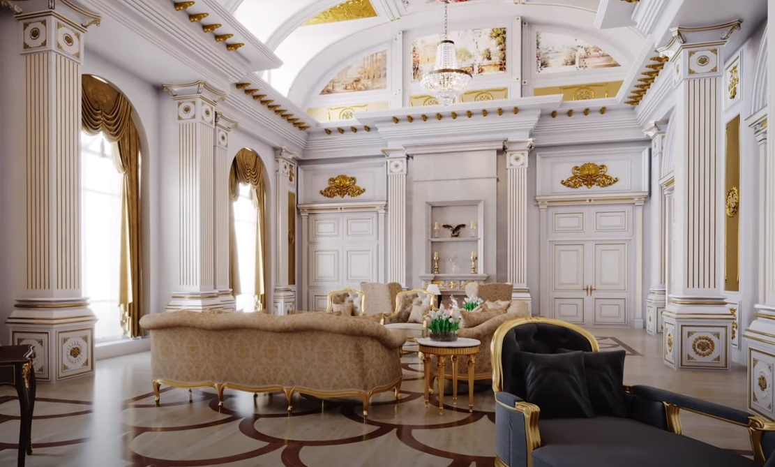 Читальня во дворце Путина. Визуализация – ФБК.