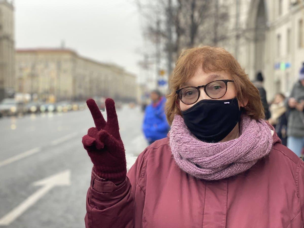 На фото — Людмила Навальная (мама Алексея Навального). Источник —Александра Астахова.