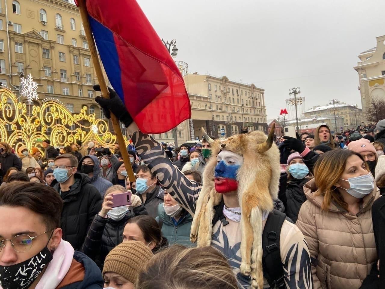 Акция «Свободу Навальному» в 15 снимках