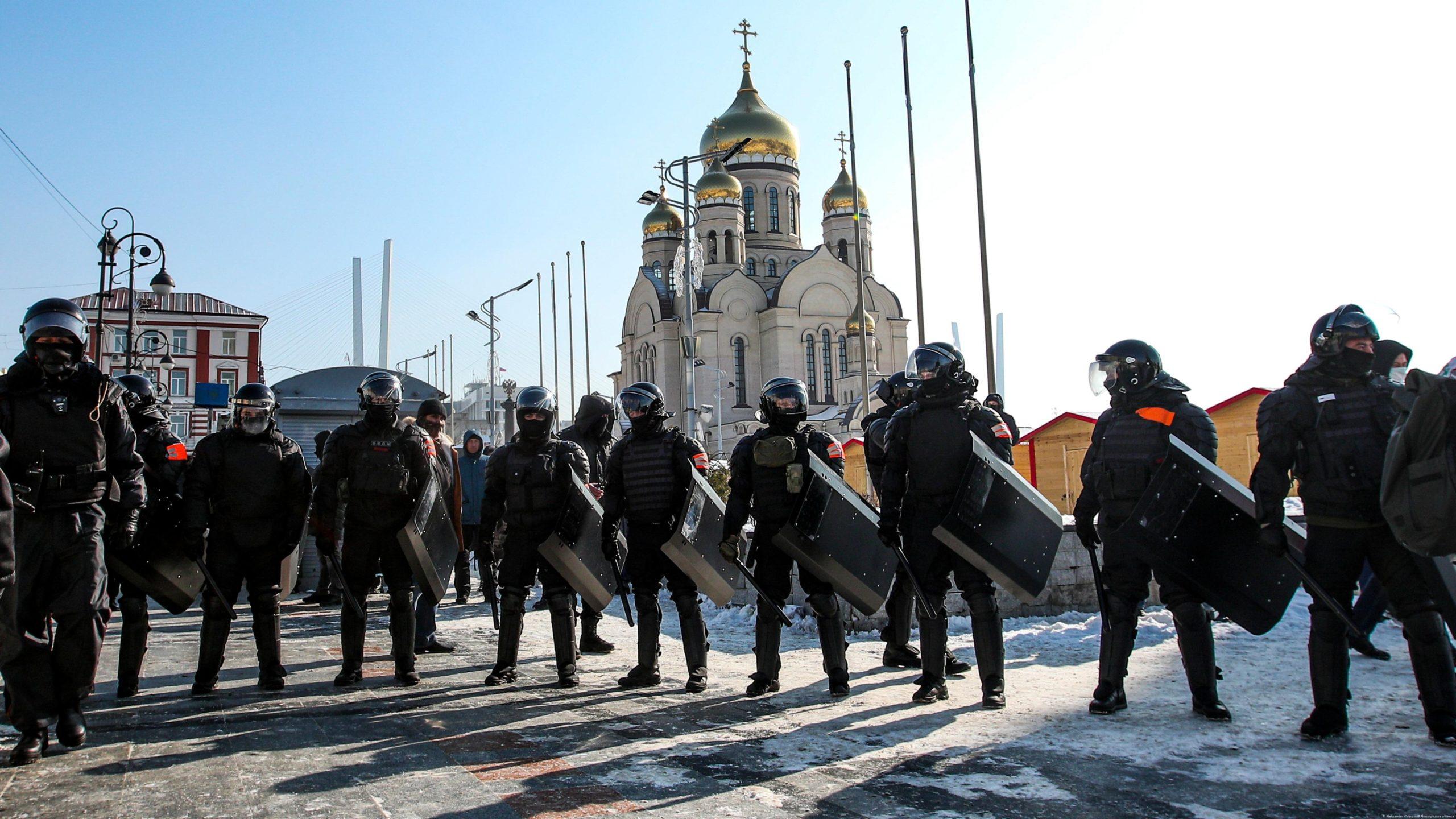 В России продолжаются митинги в поддержку Навального. Фото сегодняшних протестов