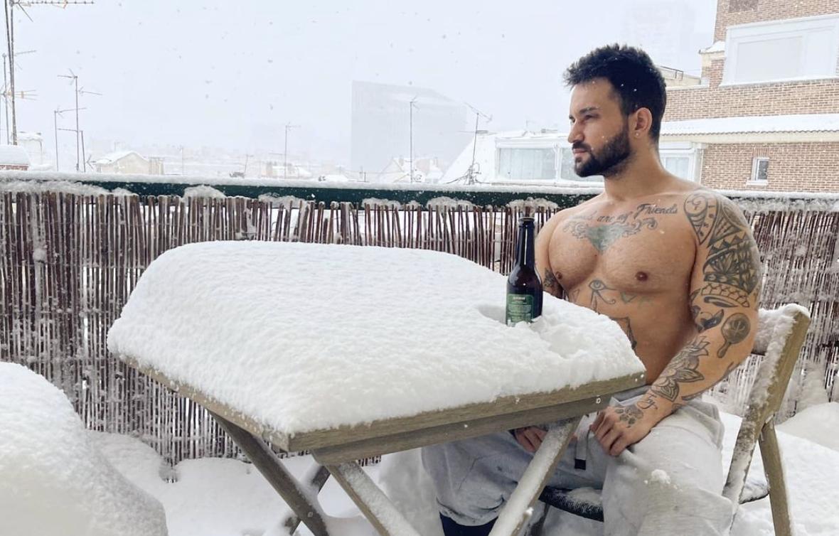 Снегопад в Мадриде. Только фото