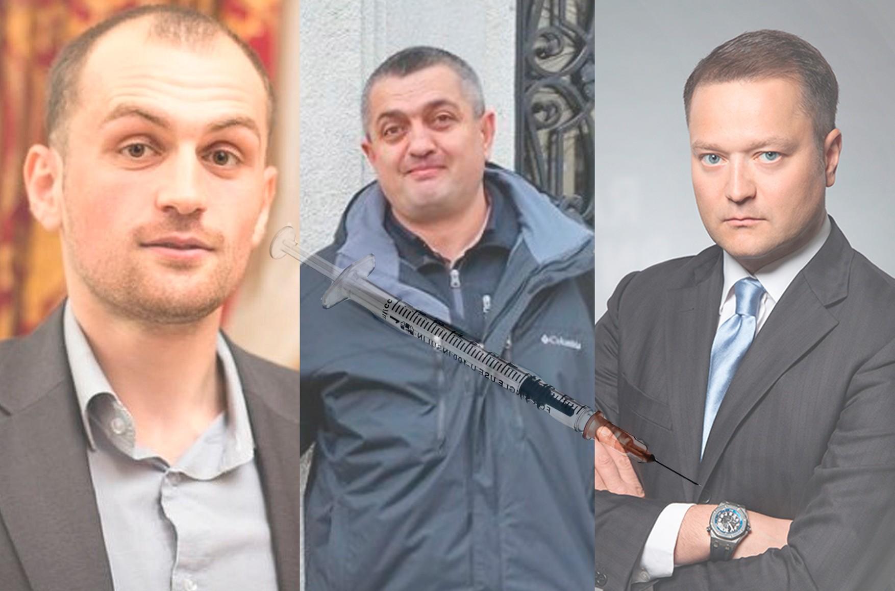 Слева направо: Тимур Куашев, Руслан Магомедрагимов, Никита Исаев. Изображение – The Insider.