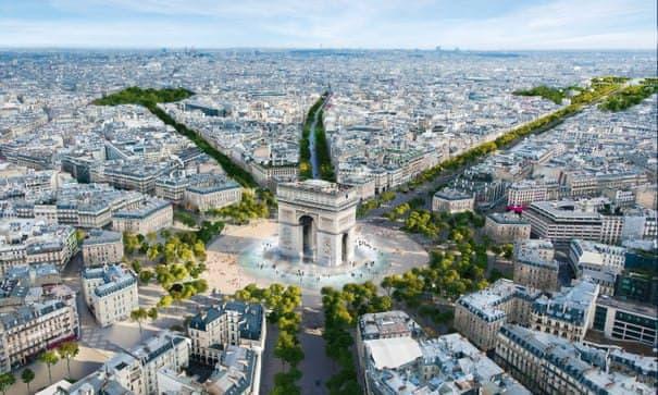 Парижские власти модернизируют Елисейские поля в «необыкновенный сад»