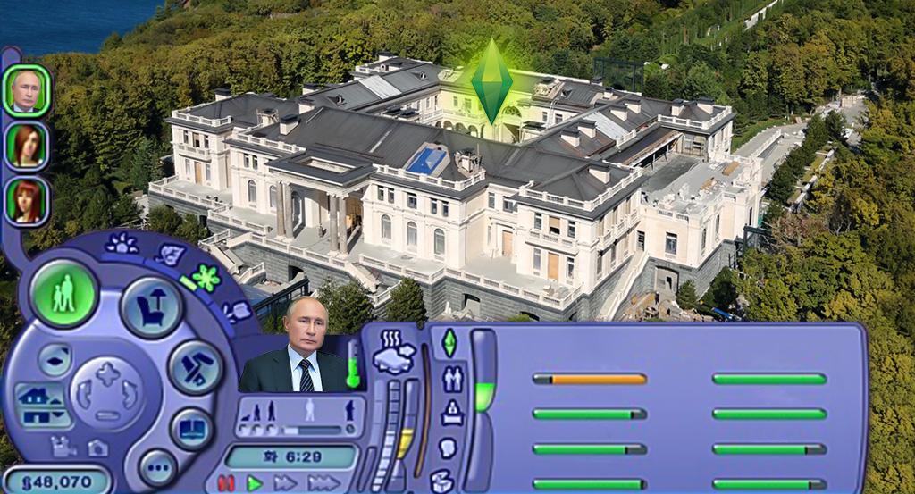 Почти как дворец Путина в Геленджике. Самые дорогие дома в Sims 4
