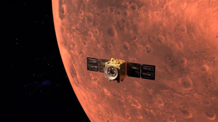 Арабский спутник вышел на орбиту Марса