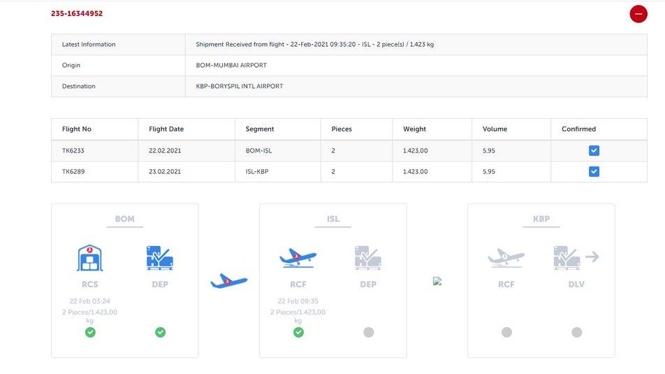 Скриншот —Turkish Cargo.
