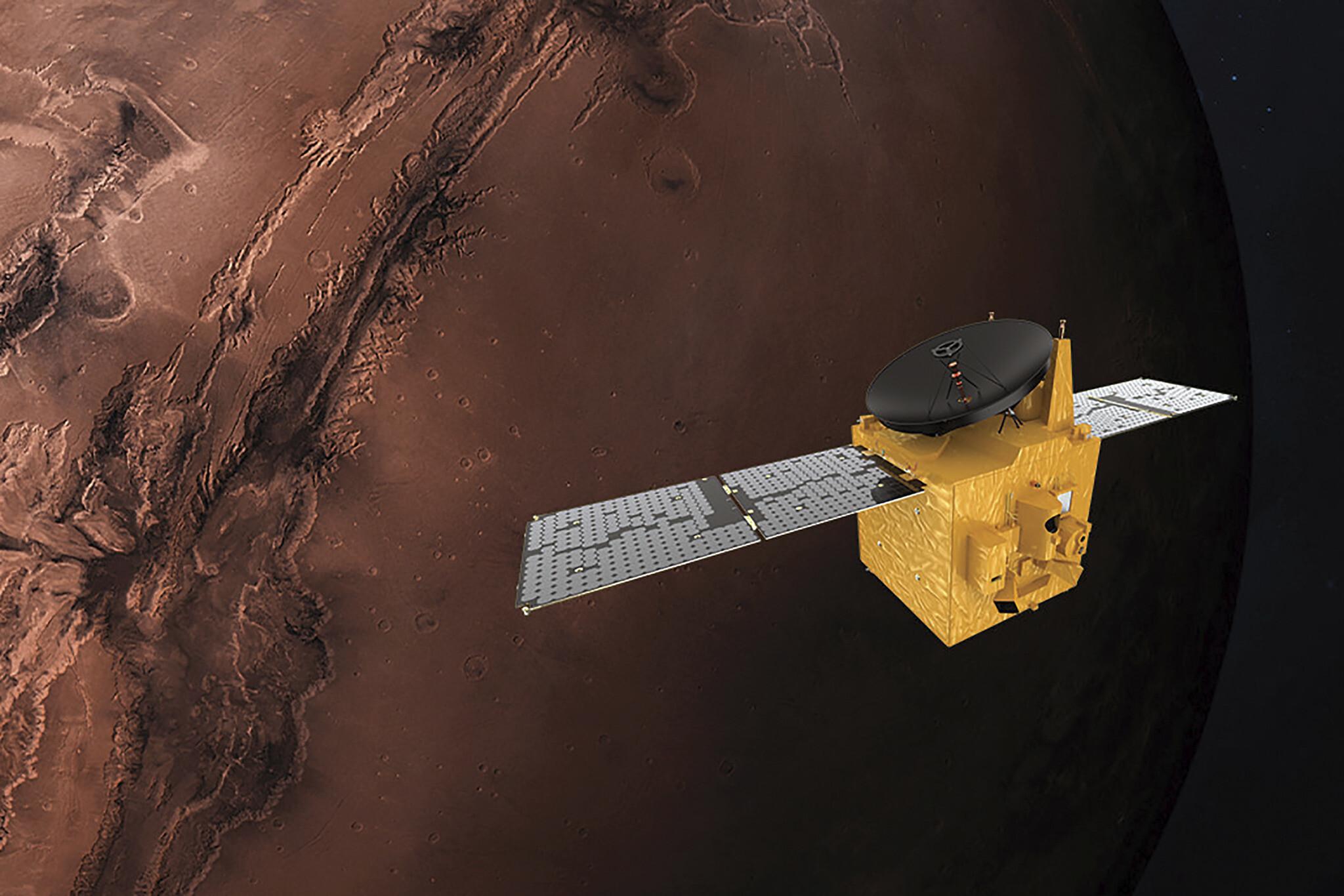 Китайский зонд Tianwen-1 успешно вышел на орбиту Марса