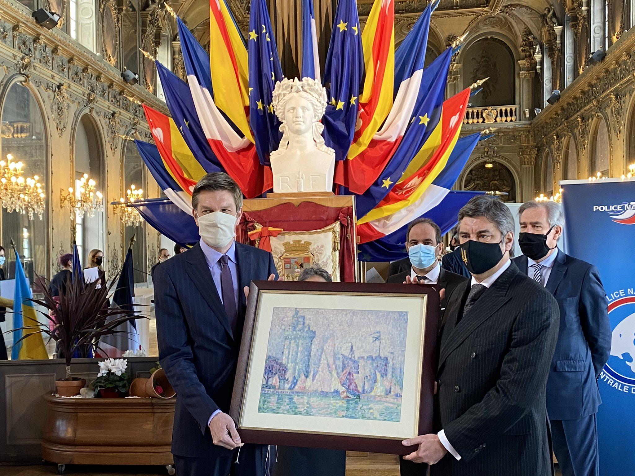 В музей Франции вернулась найденая в Украине картина стоимостью 1,5 млн евро