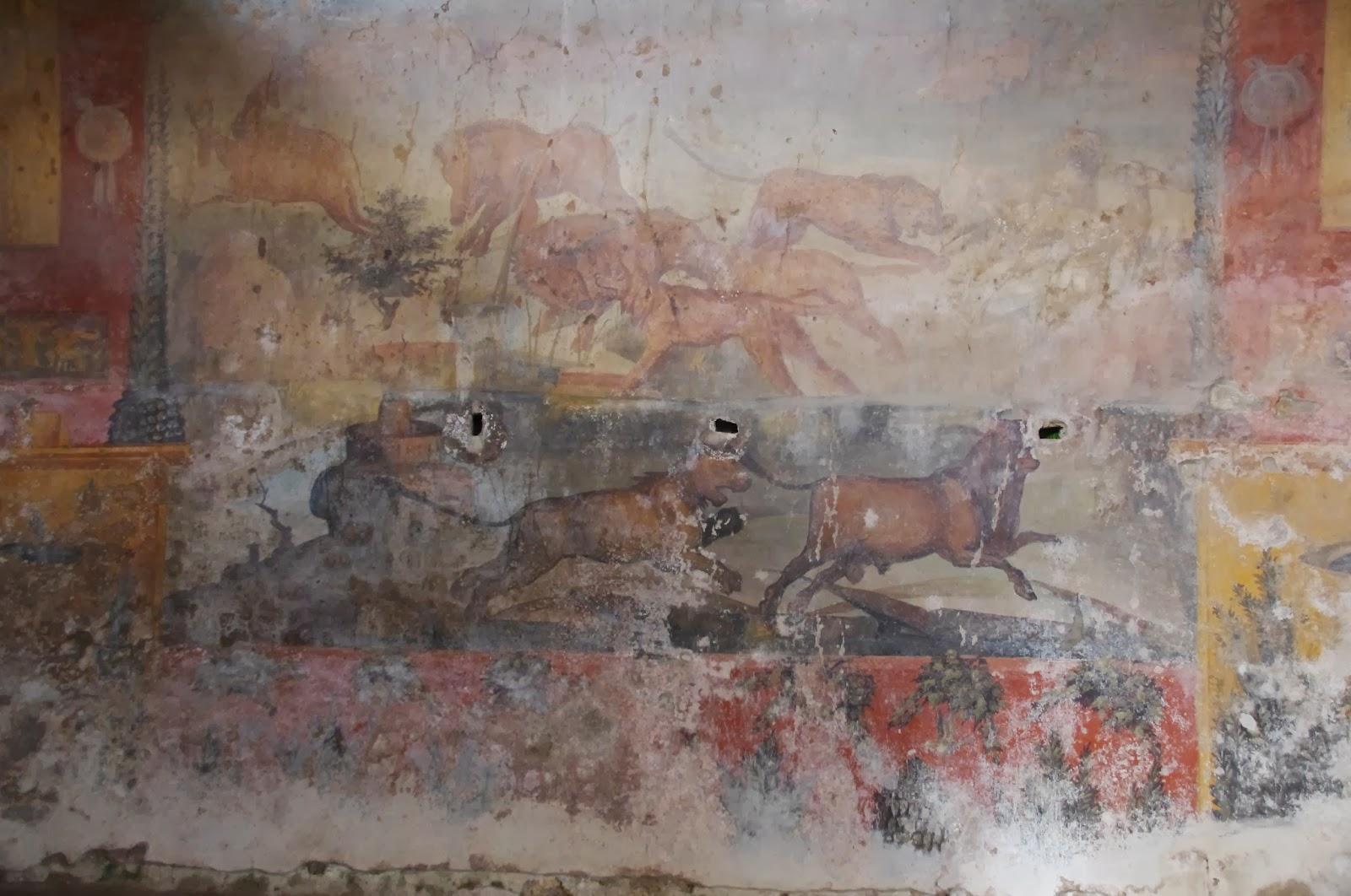 Археологи отреставрировали древнеримскую фреску с помощью лазера