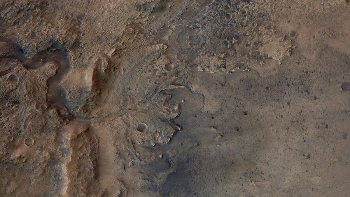 Кратер Езеро. Фото – NASA.