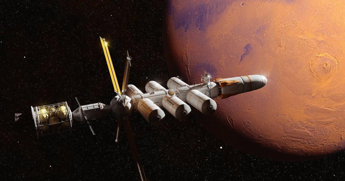 Новая ракета с ядерным двигателем сократит путь к Марсу втрое