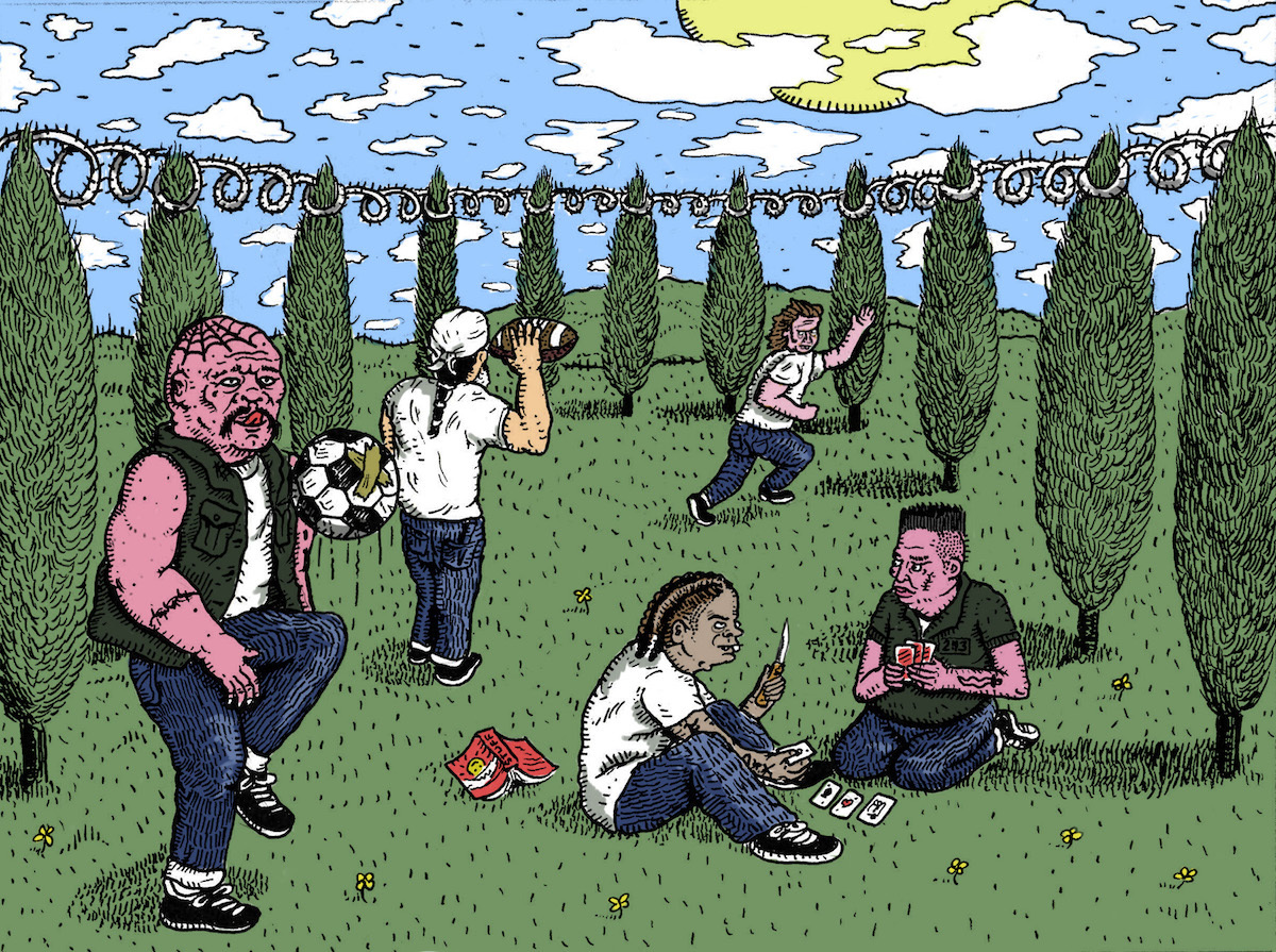 Чем больше зеленых насаждений в тюрьмах, тем меньше в них насилия. Исследование