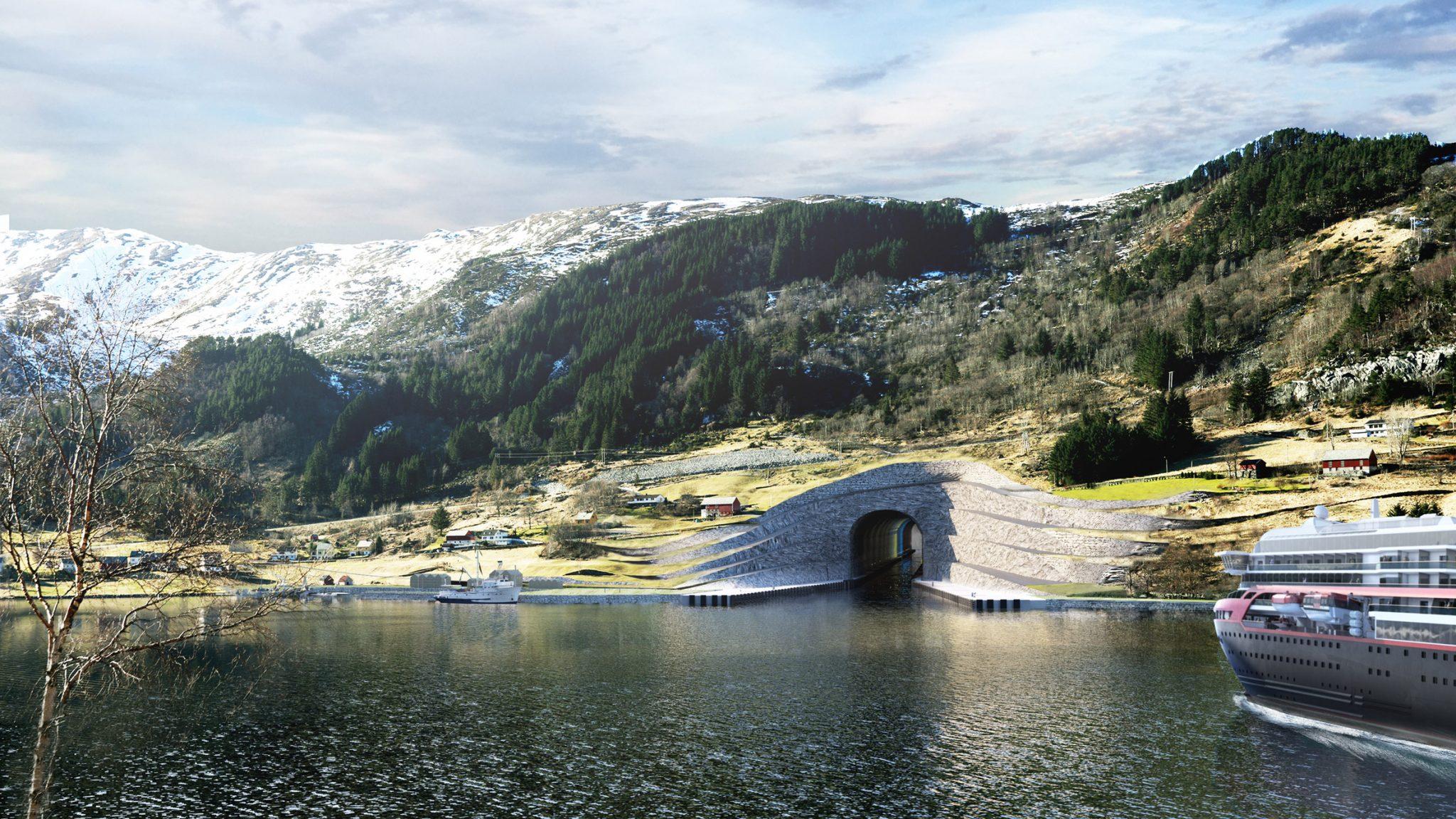 Норвегия построит первый в мире туннель для больших судов
