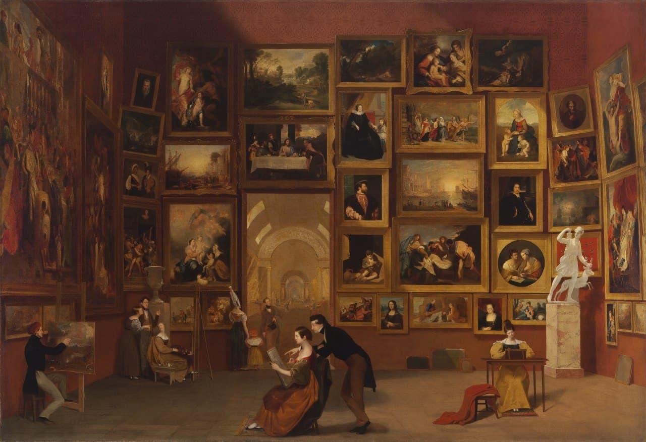 «Галерея Лувра». Сэмюэл Морзе. 1831-33.