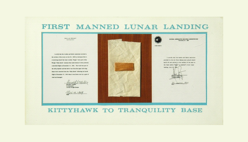 Фрагмент, который слетал на Луну. Фото — NASA.