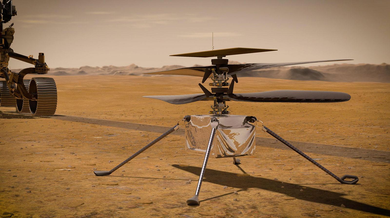 Вертолет Ingenuity. Фото — NASA.