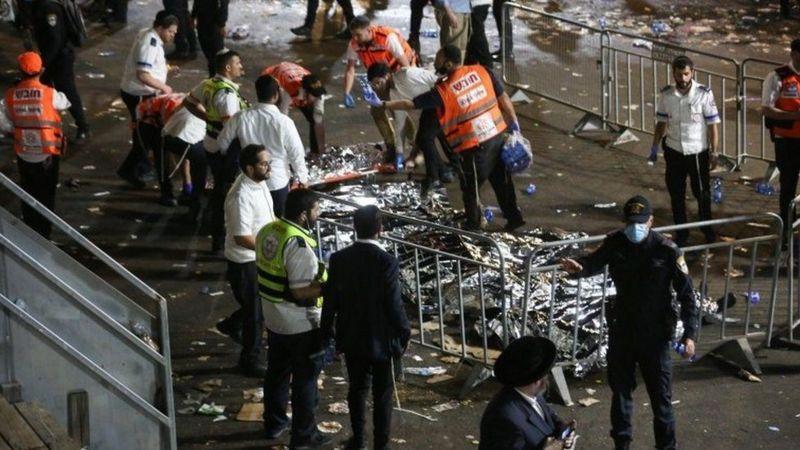 В Израиле 44 человека погибли во время давки на религиозном празднике