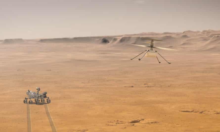 NASA впервые подняло вертолет над поверхностью Марса