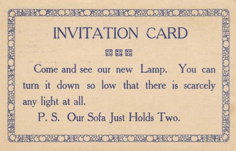 Приходите посмотреть на мою новую лампу. Вы можете выключить ее, и тогда света практически не будет. P.S. Мой диван рассчитан на двоих.