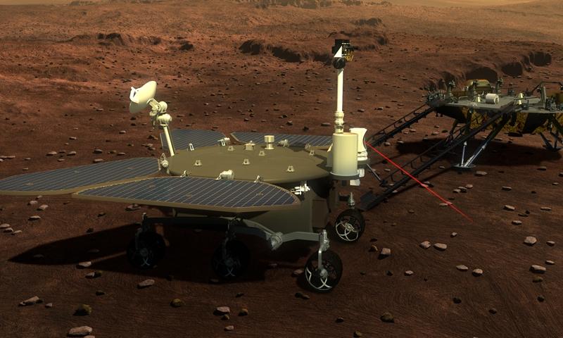 Китай представил свой первый марсоход
