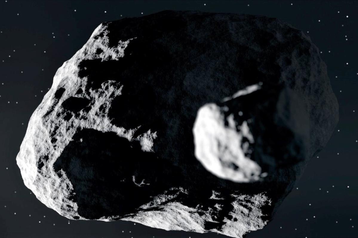 Дидим со своим спутником. Фото — ESA.