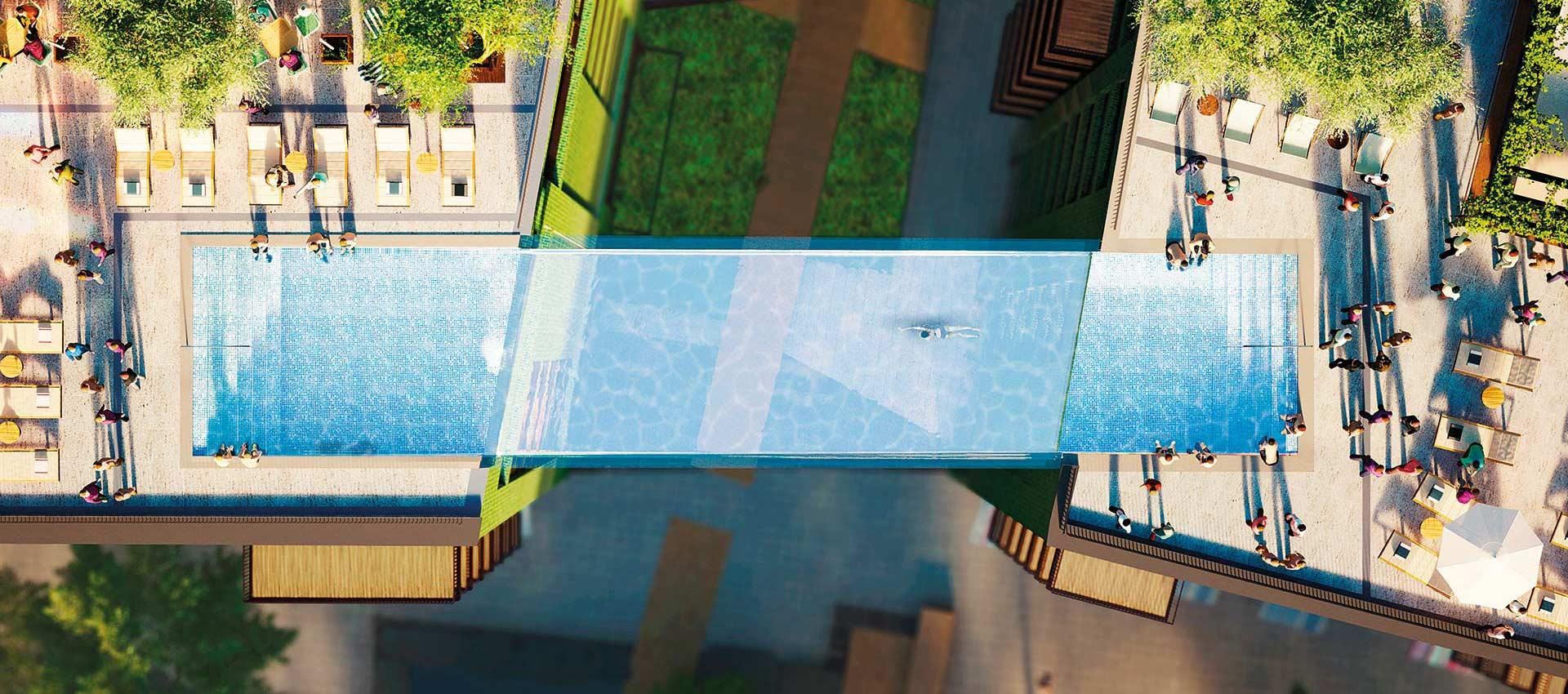 В Лондоне построили первый в мире 25-метровый мост-бассейн