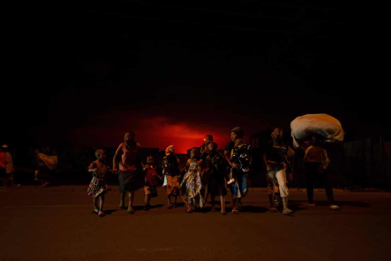 Жители Гомы бегут из города.