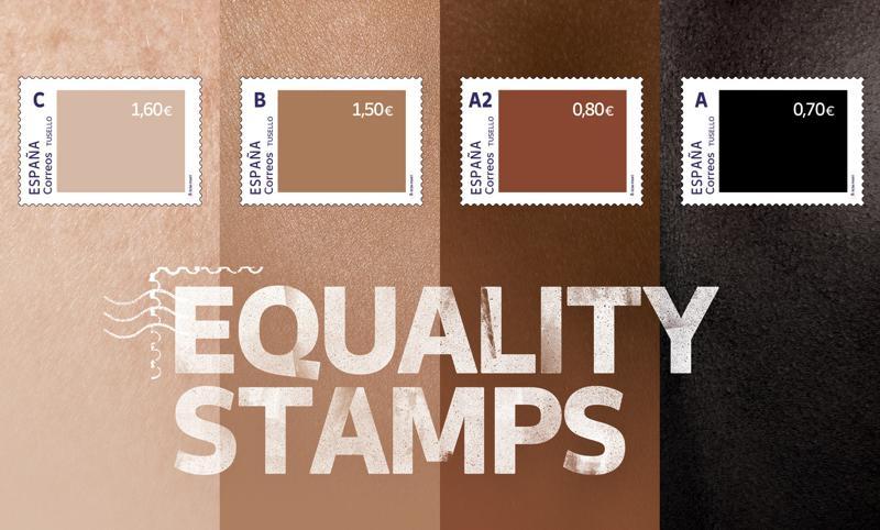 Испания ввела новые почтовые марки для борьбы с расизмом. Белые — дороже остальных