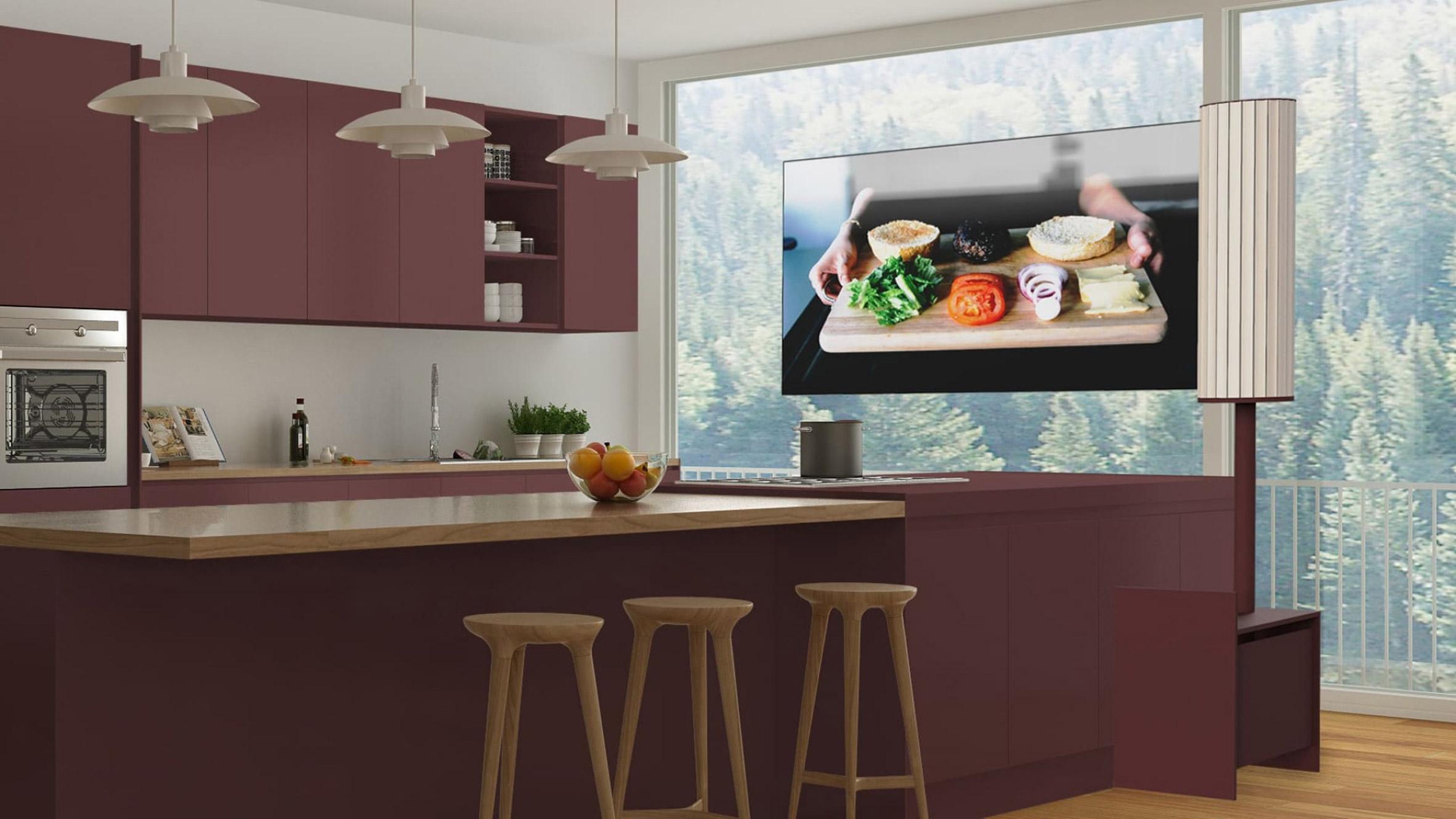 Корейская дизайнерка разработала телевизор, который можно свернуть в трубочку