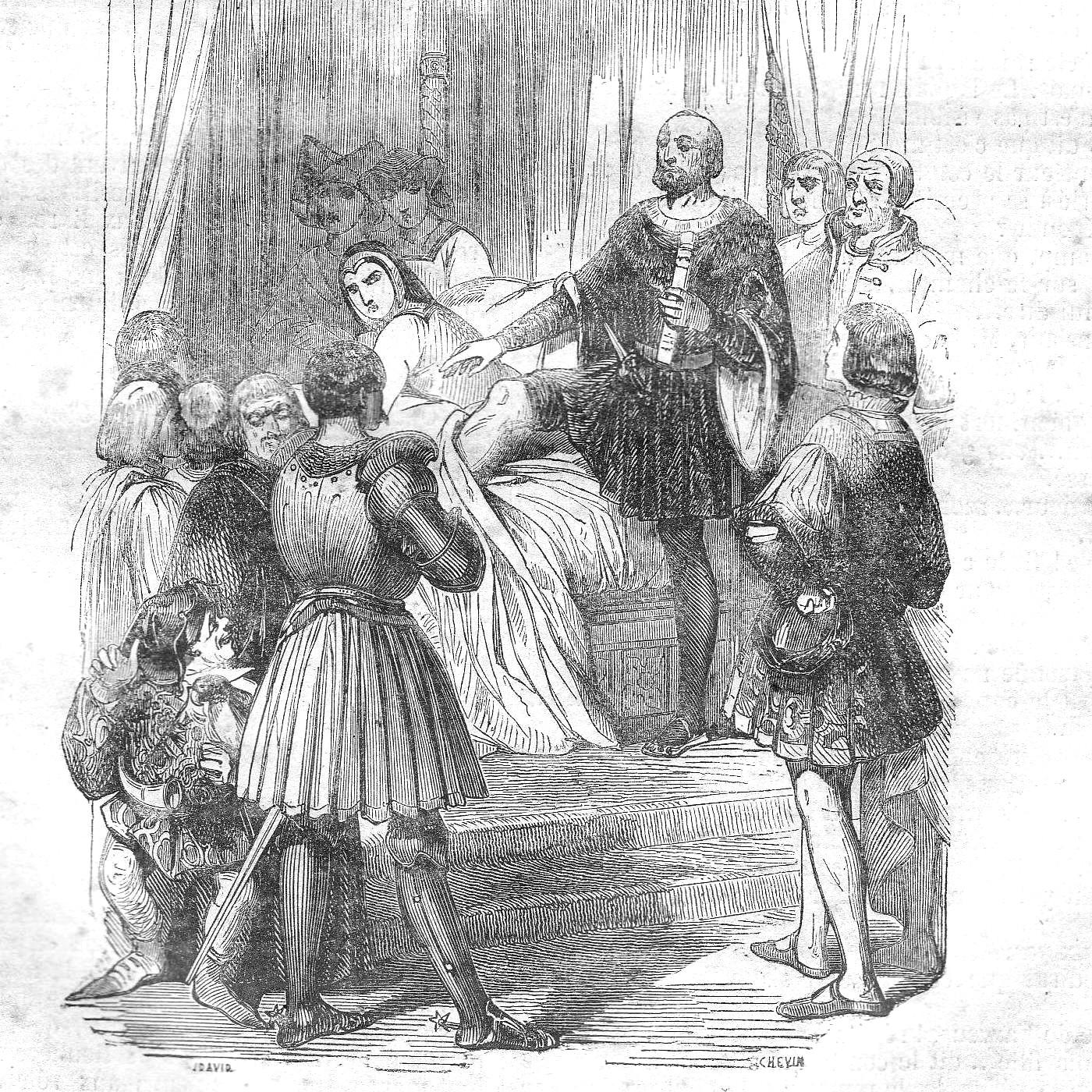 Гравюра «Брак по доверенности между Анной де Бретань и Максимилианом I»