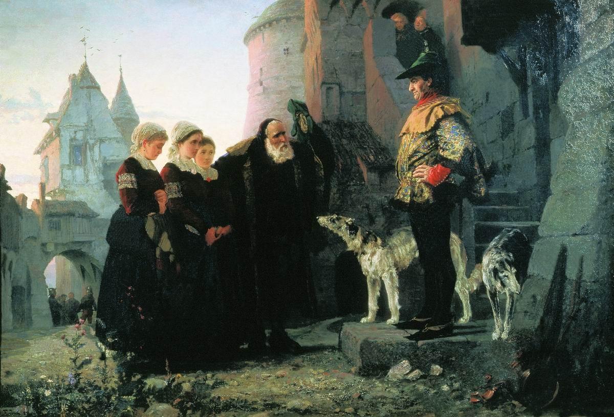 «Право господина»Василий Поленов, 1874