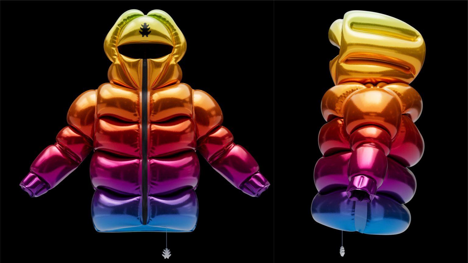 Итальянец создал куртку, в которой вместо пуха гелий. Она умеет летать