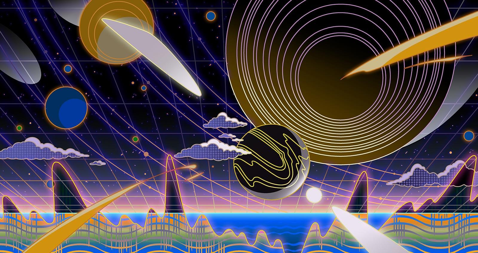 Скрипки с гравитационными волнами. Ученые выпустили альбом со звуками космоса