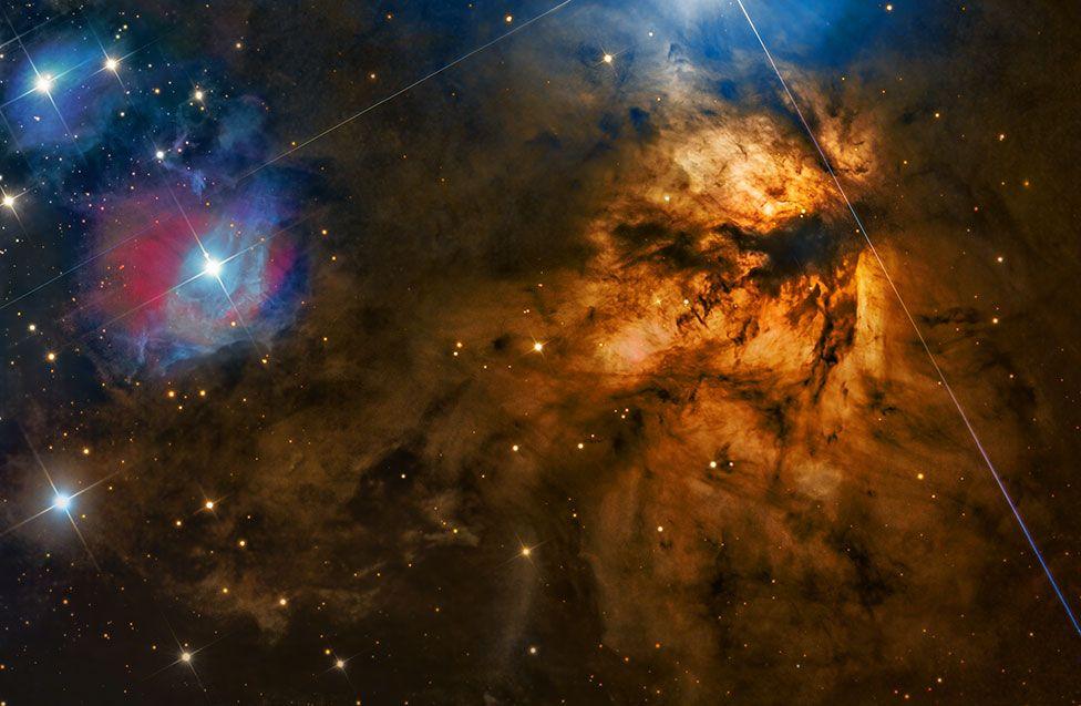 Туманность «Факел» в созвездии Ориона. Фото — Стивен Мор из Австралии.