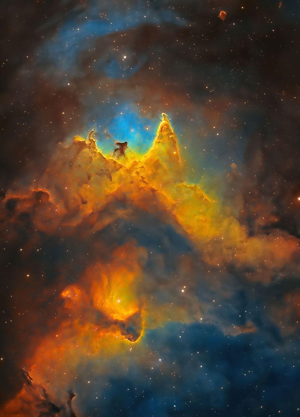 Крупный план туманности «Душа». Фото — Куш Чандария из Великобритании.