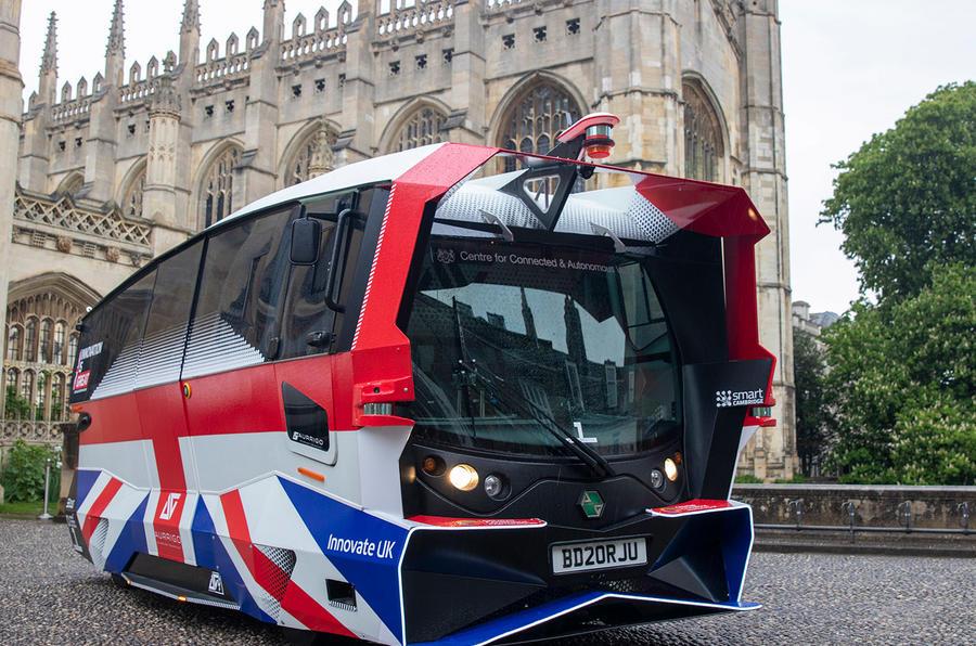 Великобритания тестирует автобусы-беспилотники (да, они так выглядят)