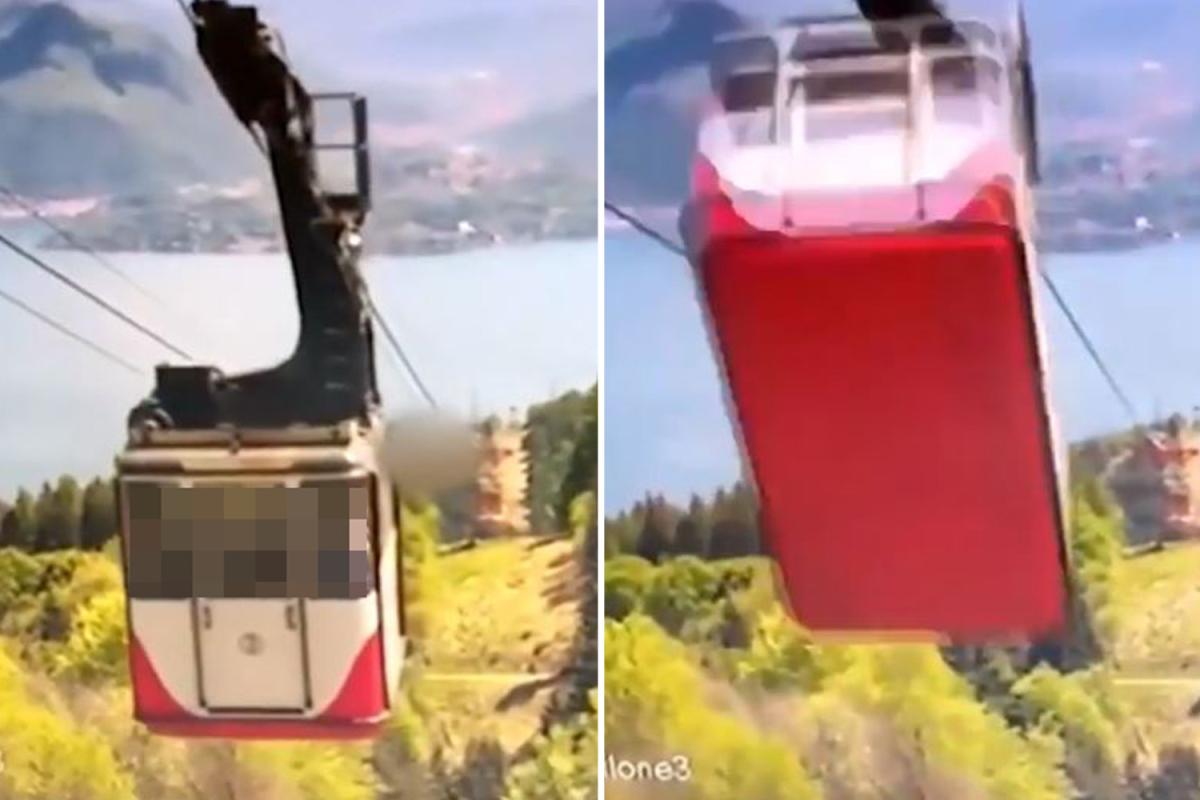 Видео дня. В Италии оборвалась кабина на канатной дороге