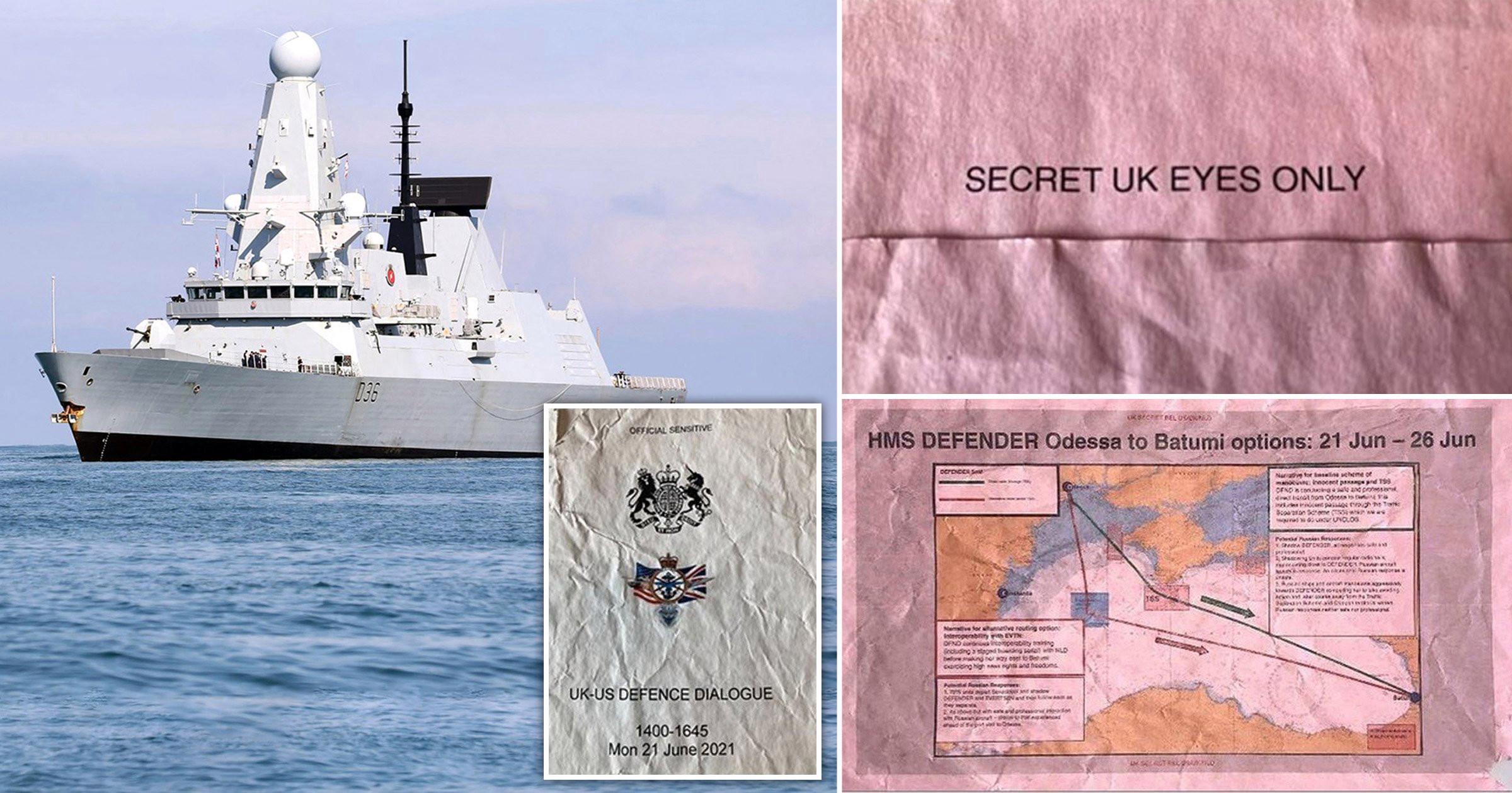 В Британии на остановке найдены секретные документы Минобороны. Они об эсминце Defender