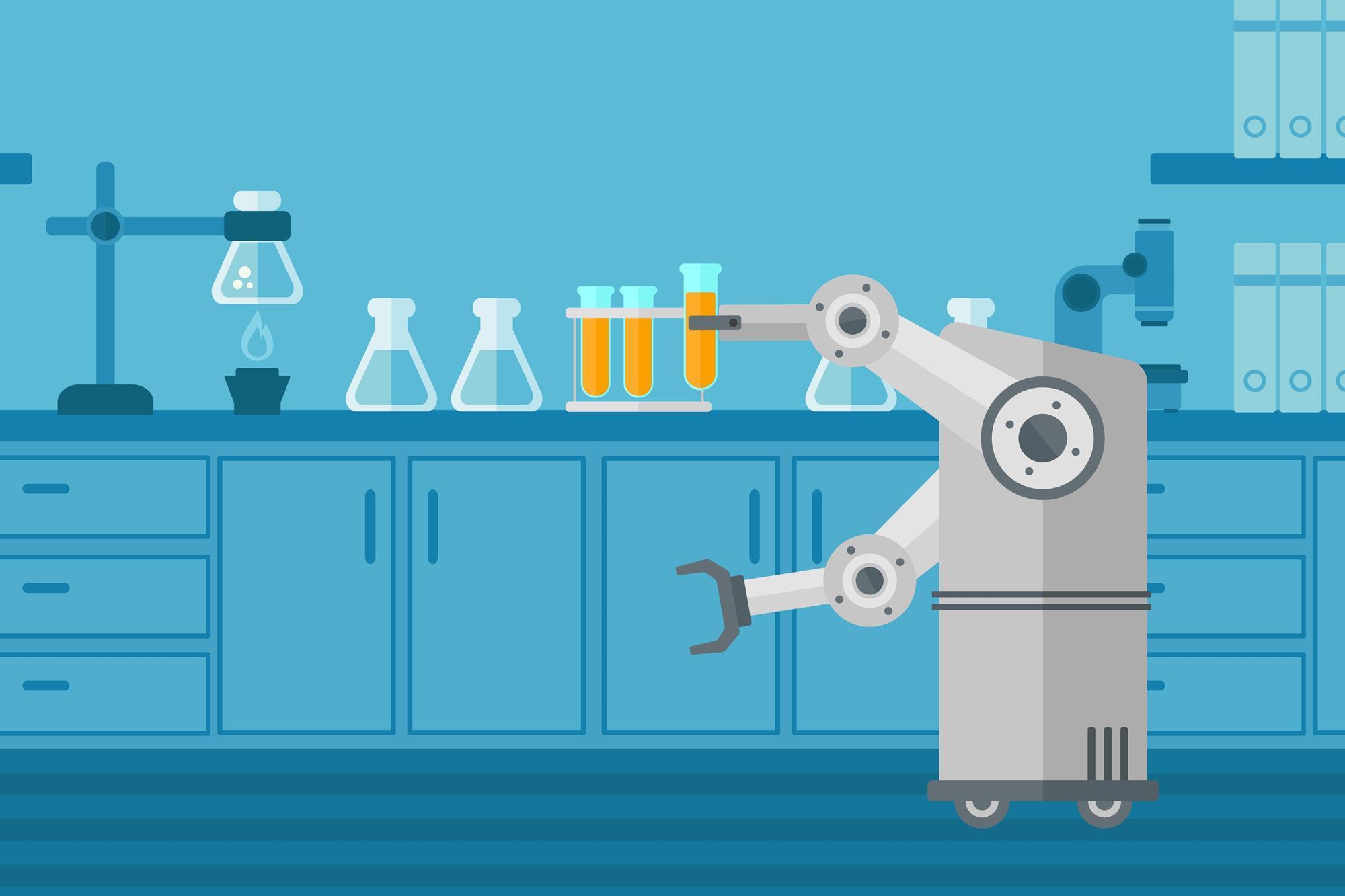 Робот-химик из Шотландии сам выбирает реагенты и ставит опыты. Процессом управляет нейросеть