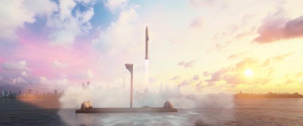 SpaceX переоборудует две нефтяные вышки под океанические космодромы