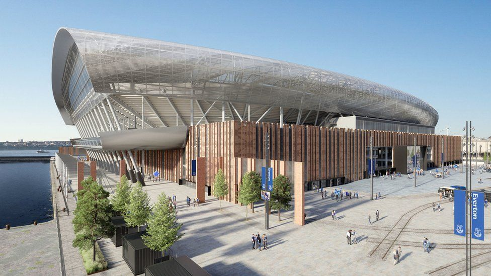 Проект нового стадиона футбольного клуба «Эвертон». Изображение — Everton FC.