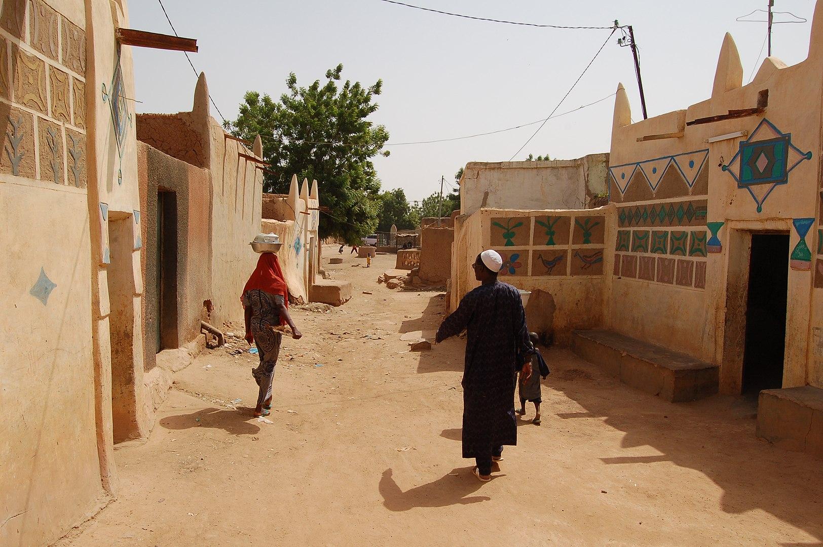 Зиндер, район старого города, традиционная застройка. Это третий по величине город Нигера. Фото – Wikipedia.